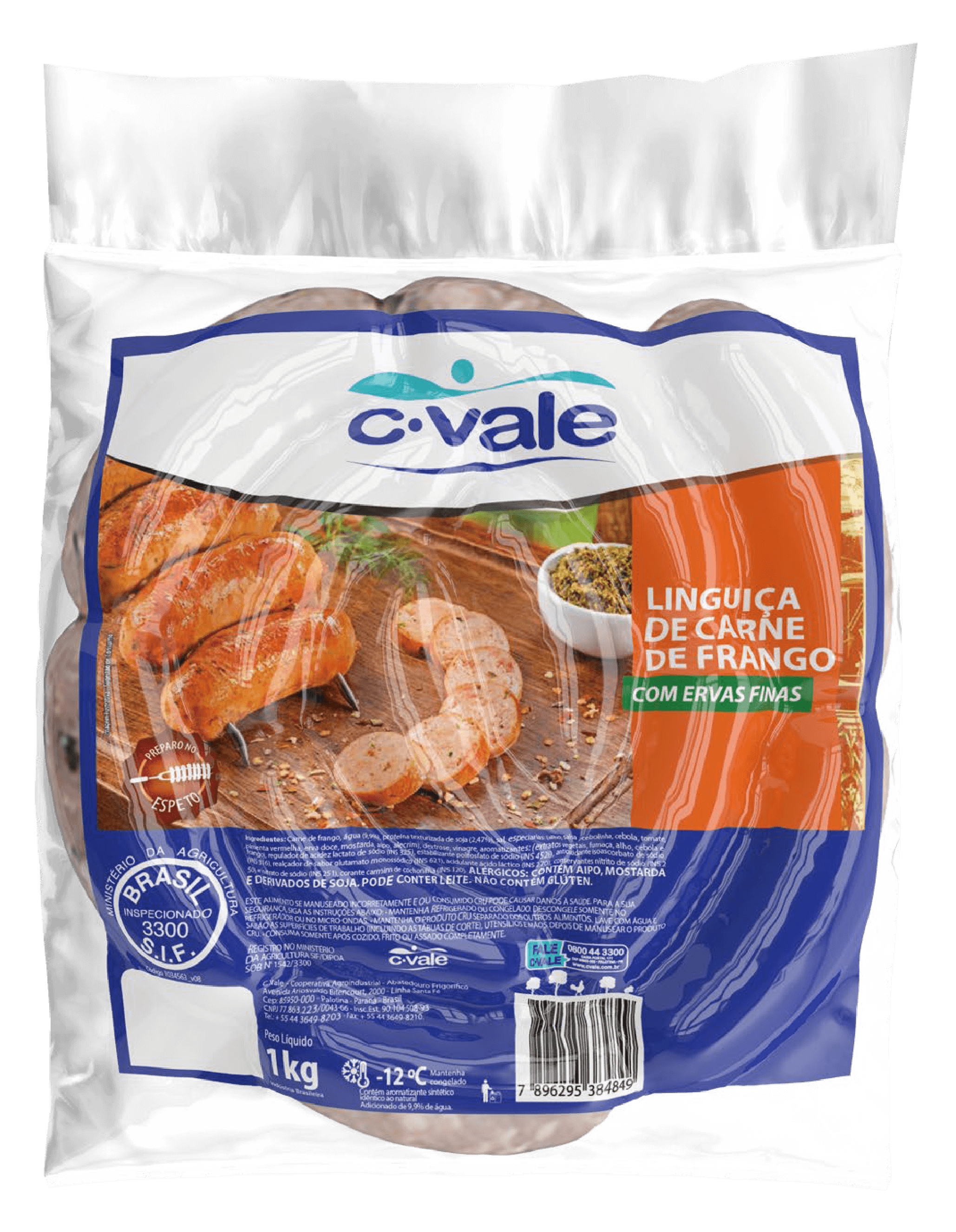 Linguiça de Carne de Frango c/ Ervas Finas 1kg